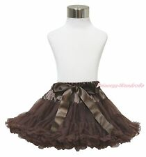 Chocolate Brown Full Tutu Skirt Dance Party Dress Girl Adult Women Lady