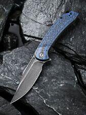 We Knife -CIVIVI Dogma C2014DS-2 Layered Blue Carbon Fiber/G10 with Damascus