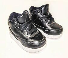 AUTHENTIC AIR JORDAN BABY SHOES, SIZE 3C BLACK W/ WHITE SOLES.  NEW NEVER WORN!!