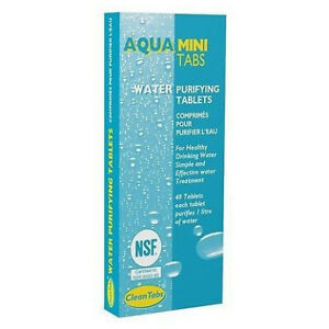 Aqua Clean MINI Water Purification Tablets Box - 40 Tabs Caravan Motorhome