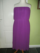 WOMENS PURPLE PLEATED STRAPLESS CHIFFON DRESS BY SIMPLY BE SIZE 24