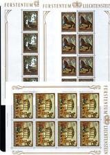 LIECHTENSTEIN MNH 1978 SG714-716 PAINTINGS SHEETS X 3