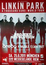 LINKIN PARK - 2011 - Konzertplakat - Dredg - Projekt Revolution - Tourposter