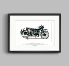 Vincent Black Shadow Series C Motorbike - ART POSTER A2 size