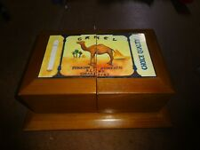 Camel Cigarettes Fold Out Wooden Valet Jewelry Box Promo Thomas Museum Series