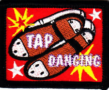 """TAP DANCING"" PATCH - Iron On Embroidered Applique Patch/Dance, Music"
