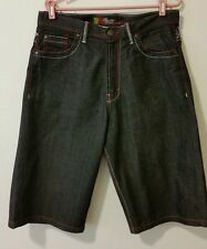 Brooklyn Xpress Short Men Cotton Flat Solid Blue Denim Pant Size 34