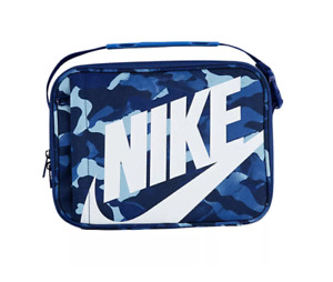 Nike Lunch Box Unisex Insulated PEVA Lining Crush Resistant Authentic Blue Camo