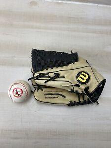 "Wilson A450 Left Hand Throw Youth Baseball Glove 12"" W/ VTG 1980s Cardinals Ball"
