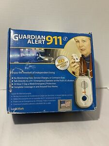 NEW Guardian Alert 911 Medical Alert Full System with Voice Pendant Model #30511