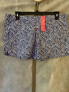 NWT Lilly Pulitzer Ocean View Short Corsica Blue Easy Peasy XL