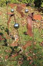 130 EDELROST Blume Skulptur Rost Gartendeko Stele Säule Edel Kunst Dekoration