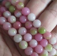 Natural 8mm pink Kunzite Round Gemstones Loose Beads 15'' JL55
