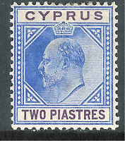 Cyprus1904 blue/purple 2p multi-crown CA mint SG65