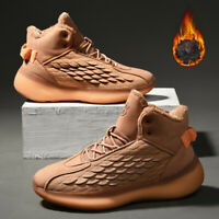 Men's Snow Boots Ankle Warm Boots Outdoor Winter Sneakers Non-slip Brushed Shoes