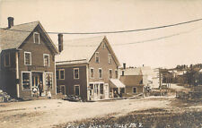 Sherman Mills ME Main Street Storefronts Post Office Real Photo Postcard