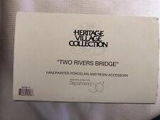 Dept. 56 Heritage Village Collection Two Rivers Bridge 56561