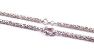 Infinity Knot Link Necklace Chain Sterling Silver Hallmarked Heavy 50.5grams