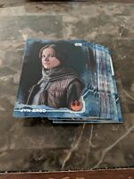 TOPPS STAR WARS ROGUE ONE BLUE SQUADRON PARALLEL 36 CARD BASE LOT NO DUPLICATES