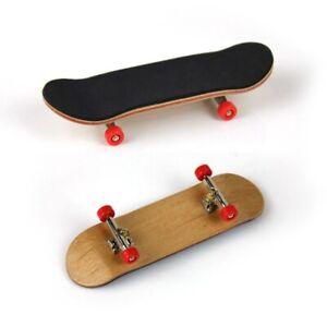 Wooden Fingerboard Finger Skate Board Grit Box Maple Wood Skateboard Czx lskn