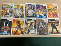 10 Nintendo Wii Games Lot - Workout/Fitness/Singing/Dance Wholesale Lot