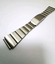 Vintage Stainless Steel Watch Bracelet, 19mm Ends. NOS