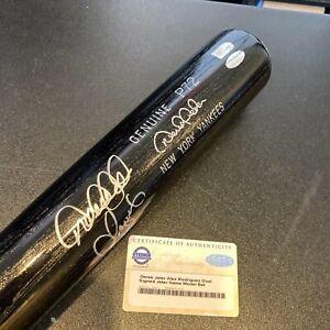 Derek Jeter & Alex Rodriguez Signed Derek Jeter Game Model Bat Steiner COA & MLB