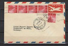 États-Unis 1948 entier postal et 5 timbres tampon à date Menphis Tenn. /B5A
