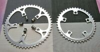 Sugino double chainrings 3/32 42/52 incl crank bolts 110 bcd 1980s
