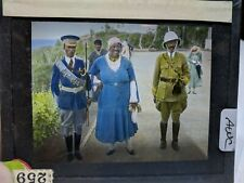 Colored Glass Magic Lantern Slide AWC AFRICAN MILITARY AND CIVILIANS
