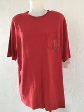 NEW Mens 3XLT 3XT POCKET T-Shirt Tee Shirt 3X 3XLTALL Solid Light RED $22 SUMMER