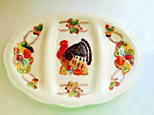 Turkey Serving Platter by Worlds Bazaar with Divided Sections