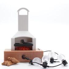 playmobil®  9272 - Grill |Kamin |Feuerstelle | Scheidholz |LED Lichterkette