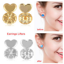 2Pairs Magic Earring Back Lifters Hypoallergenic Fit all Post Earring Jewelry