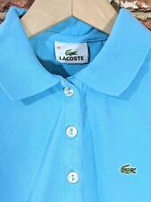 Lacoste  36 XS Turquoise Polo T-Shirt Short Sleeve Cotton Stretchy Henley Top