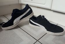 MENS PUMA SUEDE TRAINERS. NAVY WHITE. SIZE UK 11. EUR 46.
