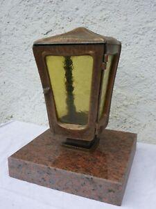 Grableuchte,Marmorsockel,Bronze Grablaterne,Grablampe,Grabschmuck