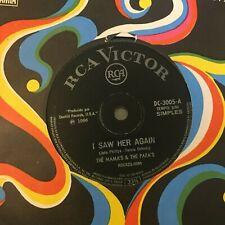 "(BRAZIL) The Mamas & The Papas: I Saw Her Again RCA 45rpm 7"" EP vinyl RARE 1966"