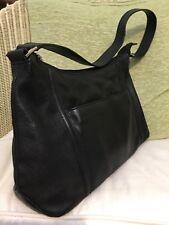 John Lewis black leather shoulder bag in excellent condition.