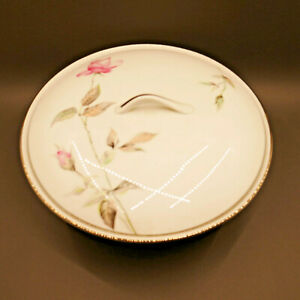 Vintage '50s Style House Dawn Rose Fine China Serving Bowl w/ Lid