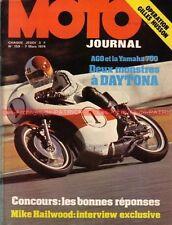 MOTO JOURNAL  159 Technique YAMAHA TZ 700 Giacomo AGOSTINI Mike Hailwood 1974