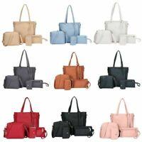 Bag Lady Leather Purse Clutch Coin Handbag Women Lot Shoulder 4PCS/Set Satchel