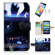 ( For Samsung S5 ) Wallet Case Cover DJ Music and Dance P0259