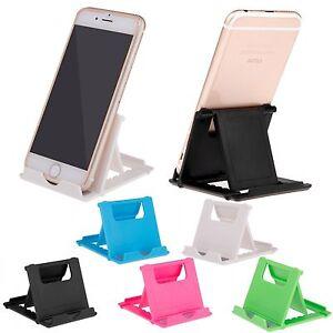Universal Desk Stand Mobile Phone Tablet Holder Adjustable Foldable Portable NEW