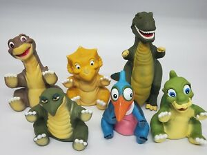 Pizza Hut 1988 Complete Set 6 Land Before Time Hand Puppets* Used 6pcs