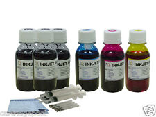 Bulk refill ink for HP Inkjet Printers 300ml Black 3x100ml Color 4Syringes