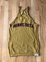 Vintage 1960's MINNESOTA GOLDEN GOPHERS Durene Track Jersey Sand Knit 36