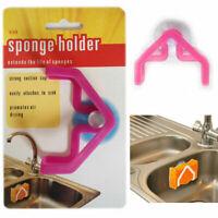 Sponge Scourer Holder Drainer Sink Kitchen Organiser Drain Strainer Tidy Suction