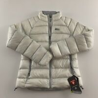 NEW REI Stratocloud Ultralight Hybrid Fill Jacket Women's Size M White Gray $159
