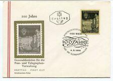 1966 Ersttag 100 Jahre Generldirektion Telegraphen Vewltung Republik Osterreich